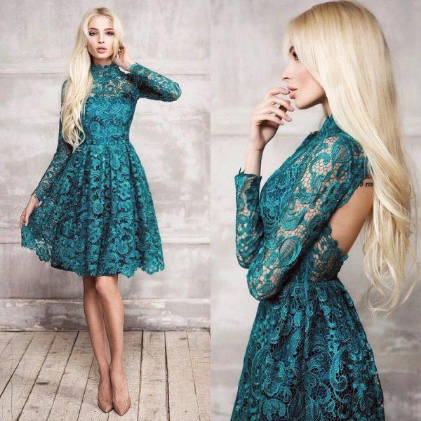 Модное платье с открытой спиной