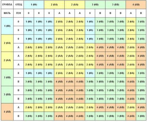 Общие сведения о группах крови и наследовании других признаков