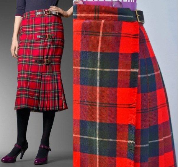 Модная юбка красных оттенков