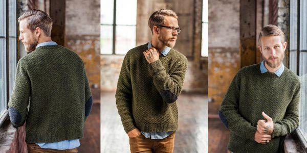 Мужской свитер в военном стиле
