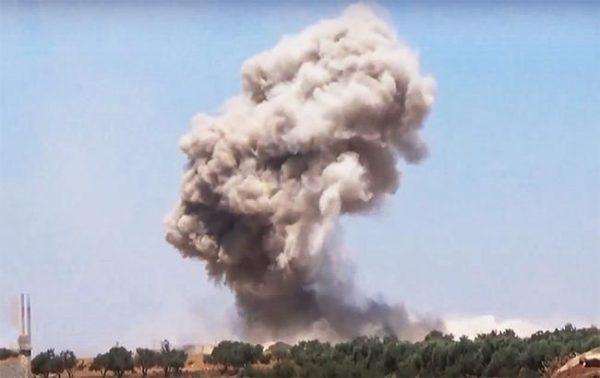 Авиаудар по Сирии продолжался до самого утра