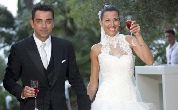 Хавьер Эрнандес с женой