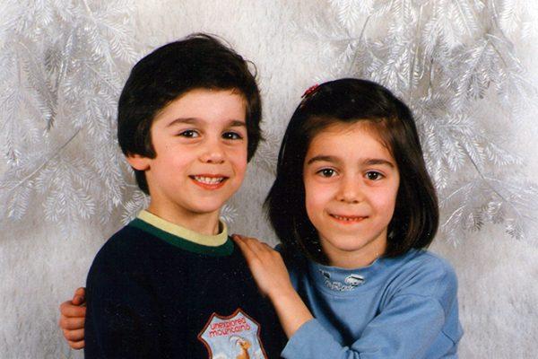 Генрих Мхитарян в детстве со своей сестрой