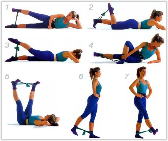 Упражнения для ног с резинкой