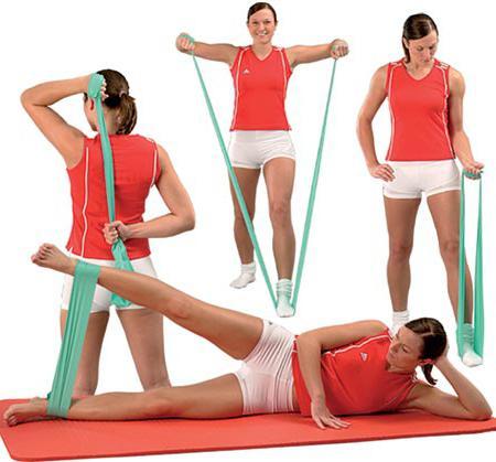 Упражнения с резинкой для женщин