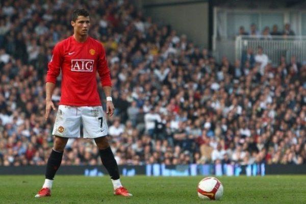 Криштиану Роналду в составе «Манчестер Юнайтед»