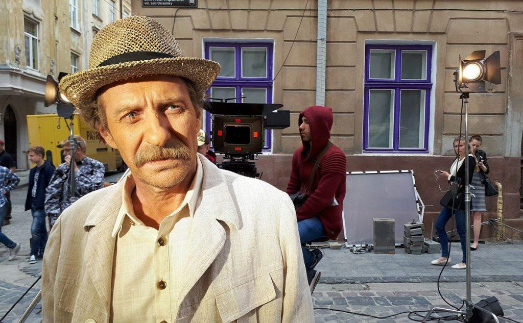 Олег Треповский на съемках