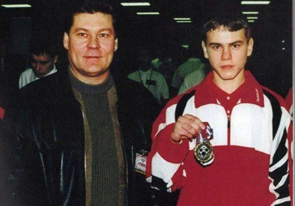 Акинфеев со своим отцом