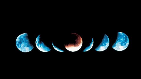 Растущая и убывающая луна