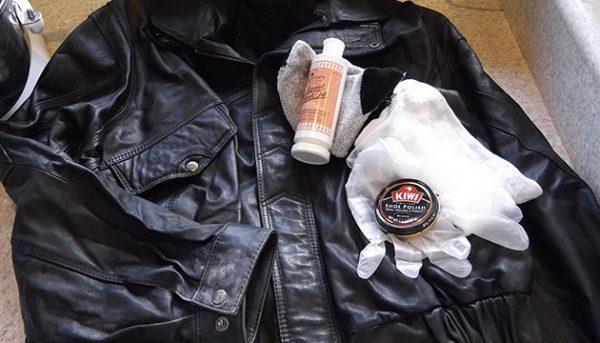 Как очистить кожаную куртку покупными средствами