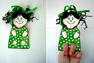Театральные куклы из бумажных тарелок