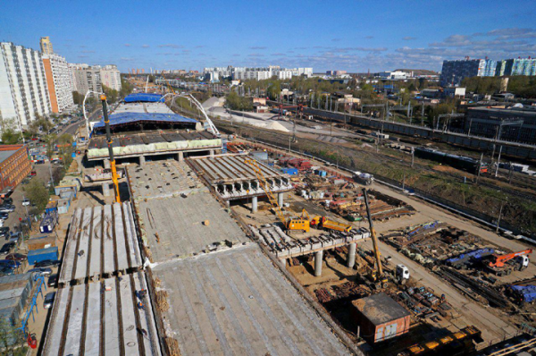 """Строительство станции метро """"Некрасовка"""""""
