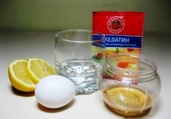 Подготовка желатина