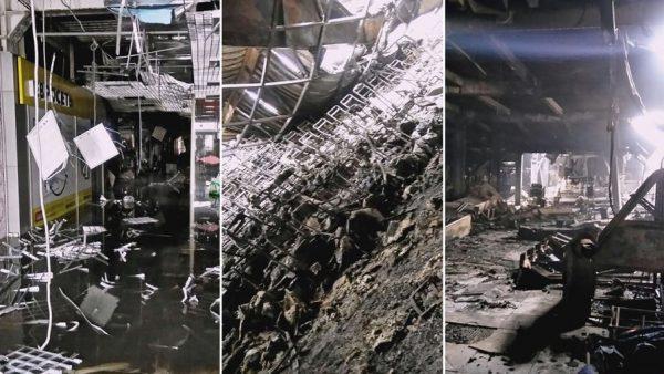 Последствия пожара в ТЦ в Кемерово