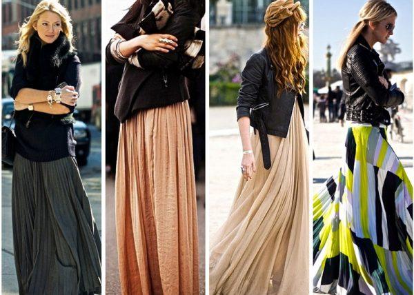 Длинные юбки в стиле бохо