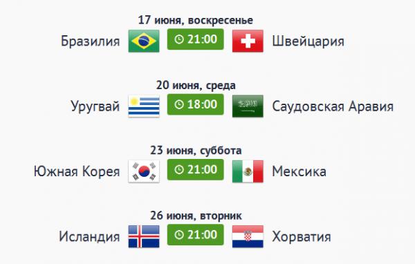 Чемпионат мира по футболу 2018 - расписание матчей в Санкт-Петербурге