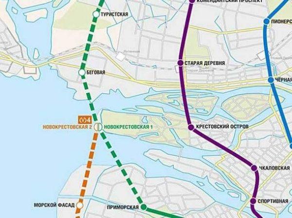 Схема станции метро Беговая
