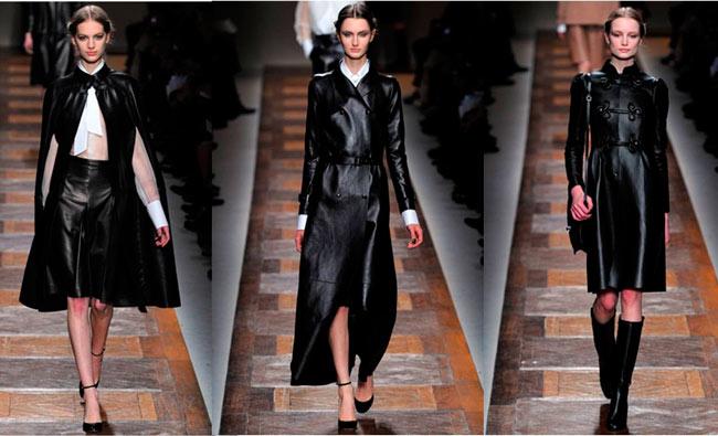 Лаковые и кожаные пальто