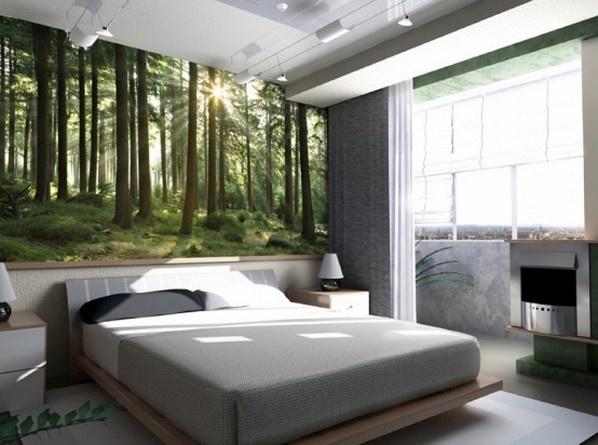 Использование современных фотообоев для оформления спальни