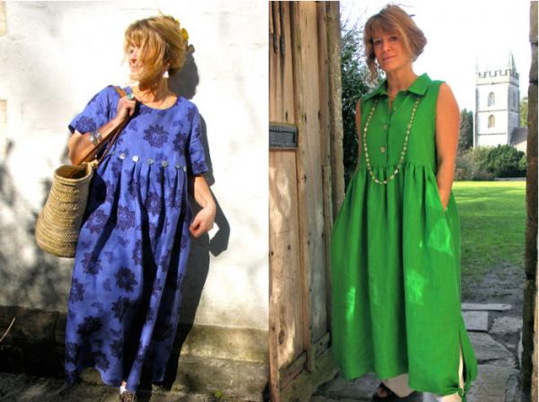 Яркие платья в стиле бохо
