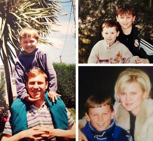 Денис Черышев в детстве со своими родителями
