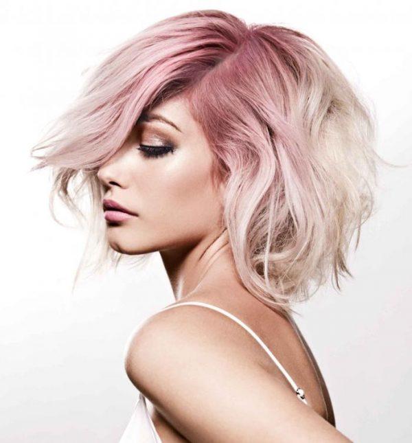 Окрашивание на светлых волосах