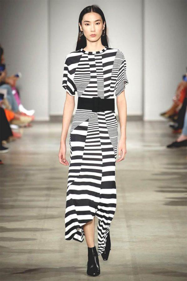 Платье с геометрическими принтами
