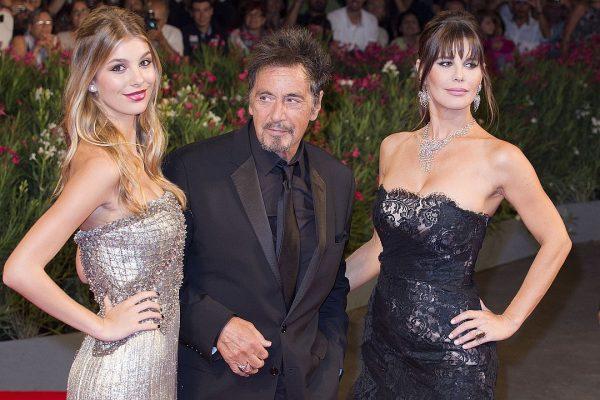 Камила Морроне с матерью Люсилой Сола и Аль Пачино