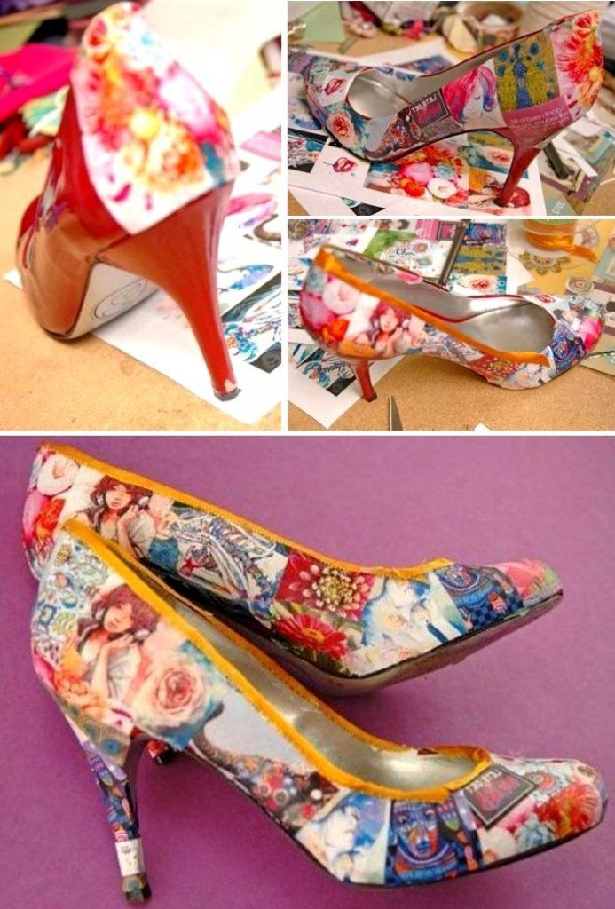 Декор на туфлях