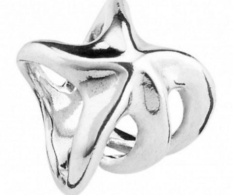 Кольцо ручной работы покрытое серебром