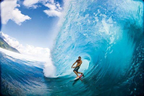 Впечатляющий серфинг