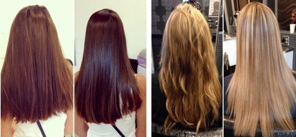 Как выглядят волосы после окончания процедуры