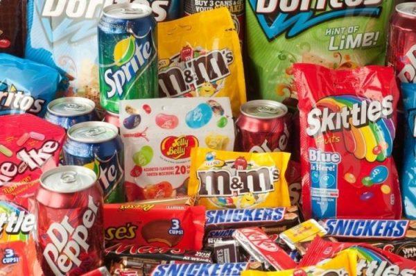Продукты с большим содержанием сахара