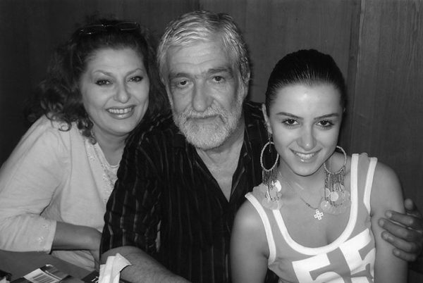 С мужем Давидом Беджанян и дочкой