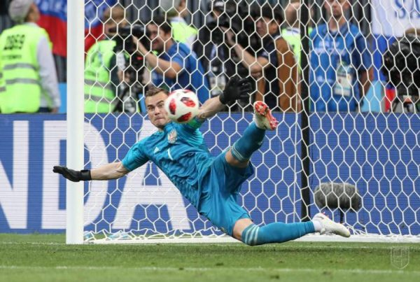 Игорь Акинфеев защищал ворота российской сборной до конца матча