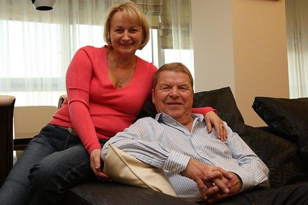 Актер со своей любимой женой