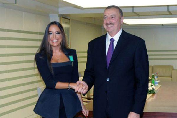 Лейла Алиева со своим отцом