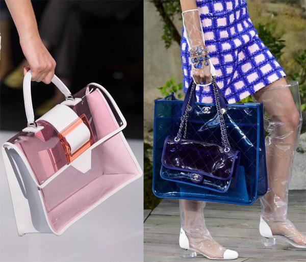 Пластиковая сумка в сочетании с такой же обувью