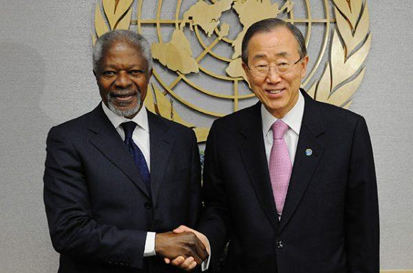 Кофи Аннан и Пан Ги Мун