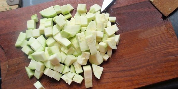 Заготовка овощей брусочками