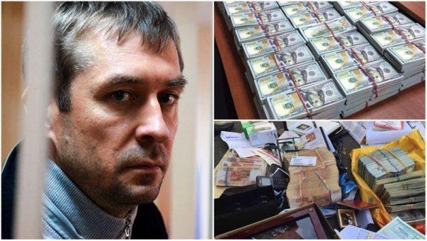 У борца с коррупцией полковника МВД Дмитрия Захарченко нашли мешки денег