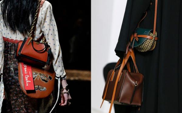 Сочетание двух сумок в одном образе