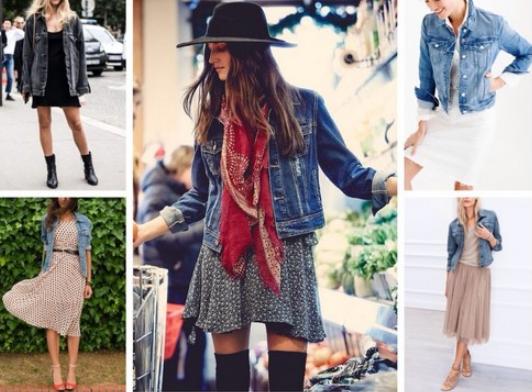 Джинсовые куртки можно сочетать с любой одеждой