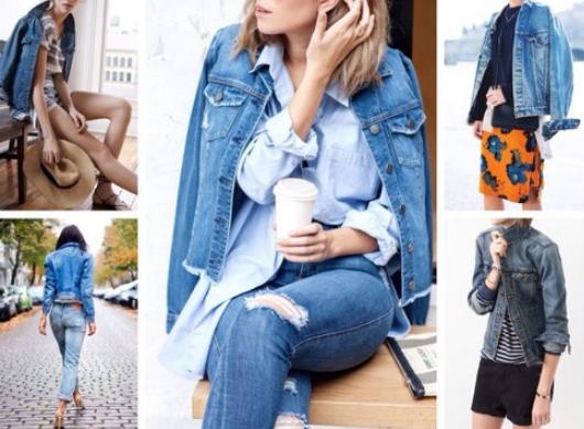 Модные джинсовые куртки