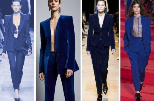 Модные костюмы синего цвета