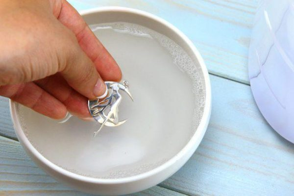 Очищение серебра в растворе аммиака