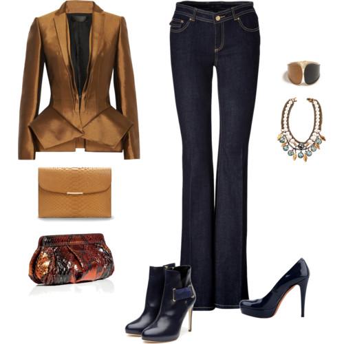 Сочетание брюк и другой одежды