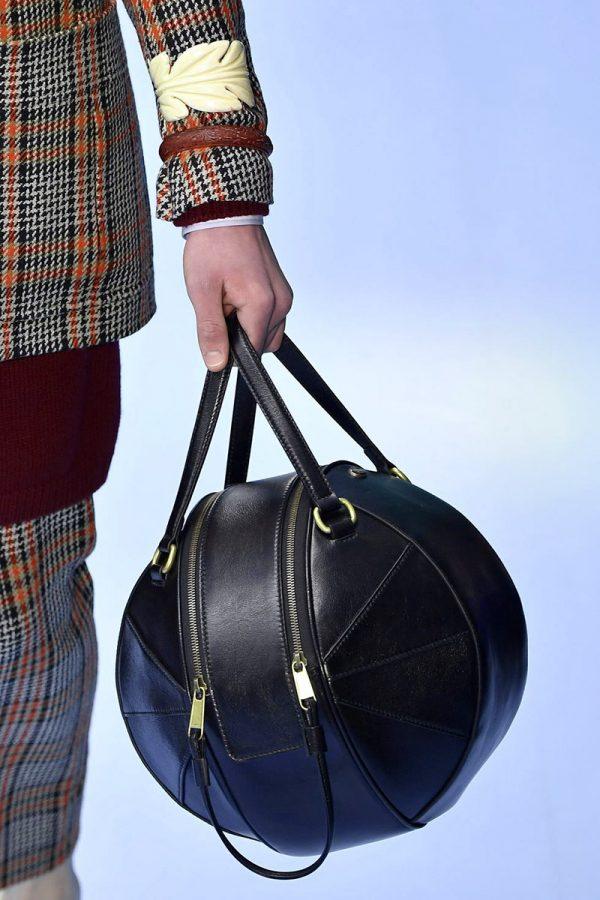 Модная кожаная сумка в форме мяча