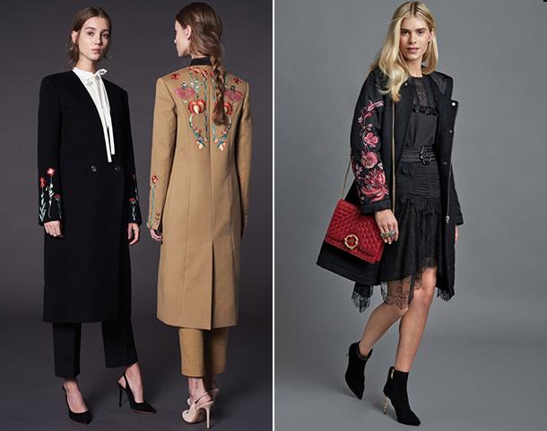 Модные пальто с цветочными принтами