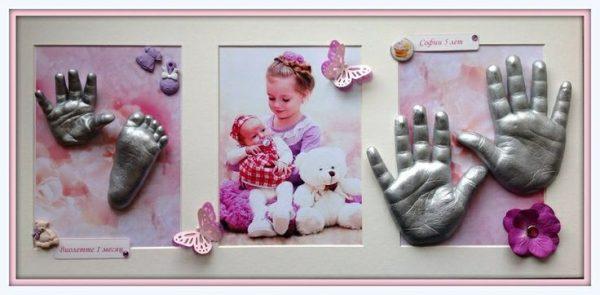 Рамки с оттисками детских рук